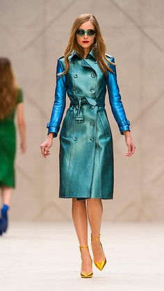 <3  Metallic Leather Trench Coat | Burberry