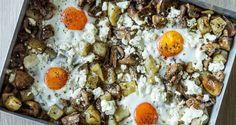 Πατάτες με αυγά στον φούρνο