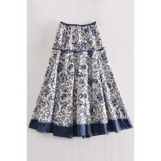 Printed A Line Midi Skirt ($99) ❤ liked on Polyvore featuring skirts, a line midi skirt, midi skirt, knee length a line skirt, mid calf skirts and calf length skirts