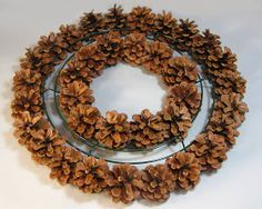 another bright idea: Pine Cone Wreaths - A Tutorial