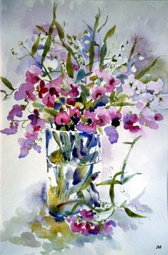 sweet peas by Jan's Art on Flickr.