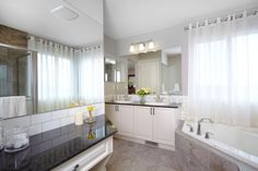 Owner's private ensuite / bath / bathroom in the Orion II showhome in King's Heights in Airdrie by Shane Homes New Homes, Bathtub, House Design, Bathroom, Standing Bath, Washroom, Bath Tub, Bathtubs, Bathrooms