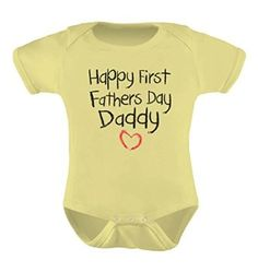 Amazon.com: Happy First Father's Day Daddy Infant Bodysuit Gift for New Dad Baby Onesie: Clothing