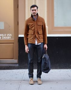 Ben Ferrari's Street Style: 10.25.12 With New York going through a schizophrenic season of hot and cold, it's best to stay versatile. Ben Ferrari documents a menagerie of fall looks, from short-sleeved tees to full-on coats