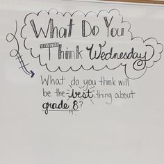 Tell us something Tuesday. Whiteboard morning work for