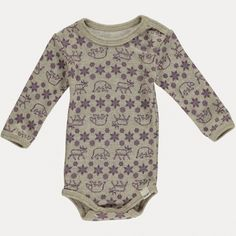 Celavi, beige ullbody med lilla mønster - Sam & Sofie Onesies, Rompers, Beige, Mini, Sweaters, Clothes, Fashion, Outfit, Moda