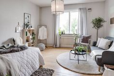 Small studio apartment with a cool vibe