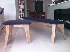 2 Veizla benches - A 200cm long one and a 60cm stool.