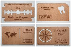 Popular items for wooden business card on Etsy