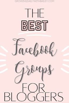 Click to read the list of the very best facebook groups for bloggers to grow your blog, make connections, and help you to learn how to blog. #growingdaily #facebookgroups #blogresources #bloggingforbeginners Best Camera For Blogging, How To Start A Blog, How To Make Money, Best Facebook, Best Blogs, Blogging For Beginners, Improve Yourself, Good Things, Group
