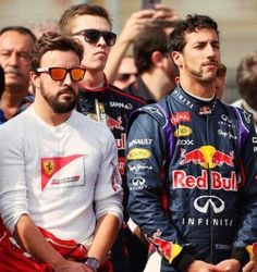 Alonso and Daniel Ricciardo
