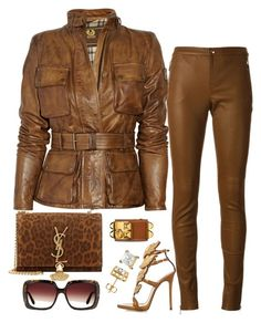 A fashion look from December 2015 featuring Belstaff jackets Gucci pants and Gi - Gucci Pants - Ideas of Gucci Pants - A fashion look from December 2015 featuring Belstaff jackets Gucci pants and Giuseppe Zanotti sandals. Browse and shop related looks. Classy Outfits, Chic Outfits, Winter Outfits, Fashion Outfits, Girl Fashion, Fashion Looks, Womens Fashion, Fashion Beauty, Belstaff Jackets