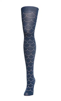fish scale tights are so cute, need an anchor tattoo to really pull it off.