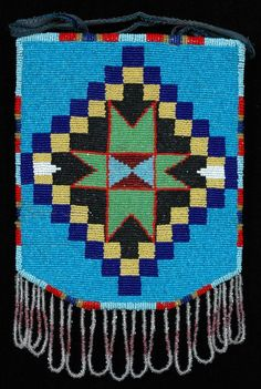 Nez Perce Cornhusk Bag with Bead Work on One Side, circa 1930