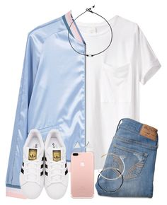 """""""I'm Slowly Drifting Away From Polyvore And I'm Just Like NO YOU MUST NOT"""" by twaayy ❤ liked on Polyvore featuring AR SRPLS, MANGO, Hollister Co., adidas Originals, Jennifer Meyer Jewelry and Ettika"""