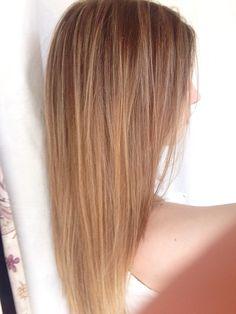 Balayage blonde natural summer hair
