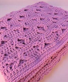 Orchid Crochet Baby Blanket Pattern | AllFreeCrochetAfghanPatterns.com for Margaret, made full afghan size