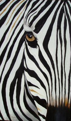 Zebra Abstract Painting