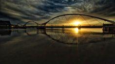 Tempe Elmore Bridge at Sunset