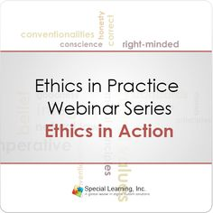 This live webinar is designed to provide BCBA with the unique opportunity to work through ethical situations with the guidance of professionals with strong expertise in the subject matter.