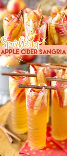 Sparkling Apple Cider Sangria - the perfect fall party beverage. Definitely keep the sparkling wine or champagne chilled - along with the glasses - or the drink can become a bit too sweet.
