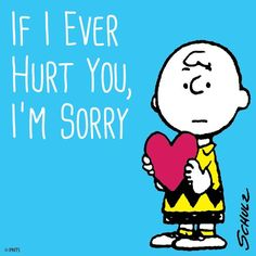 Charlie Brown I'm sorry! Peanuts Cartoon, Peanuts Snoopy, Peanuts Movie, Snoopy Love, Snoopy And Woodstock, Im Sorry Quotes, Funny Quotes, Sorry I Hurt You, I'm Sorry