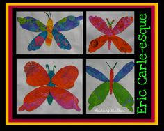Eric Carle bulletin board, spring butterfly bulletin board, preschool artwork for spring
