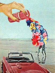 Flower Spray. Bow Down To Eugenia Loli's Anti Beauty Collages by: KATE MESSINGER JUNE 4, 2014