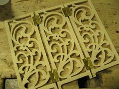 Mini scroll Saw pattern...maybe do 4 of these panels and glue together for a candle holder..??