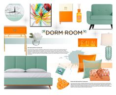 """Dorm Room Style"" by nvoyce ❤ liked on Polyvore featuring interior, interiors, interior design, home, home decor, interior decorating, Worlds Away, Matouk, Tommy Bahama and Seletti"