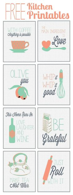 Cute! I love these Vintage kitchen Free Printables. They make fabulous home decor and kitchen ideas.