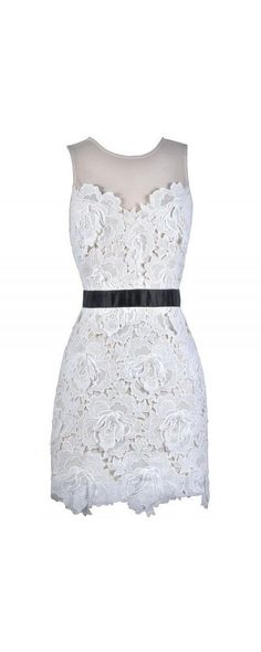 white lace Cute Dress http://www.lilyboutique.com