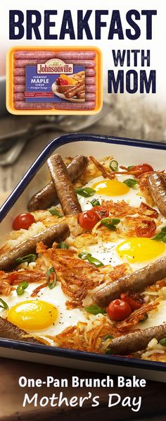 Serve up the brunch time praise, cuz that& exactly what Mom will think after enjoying this One Pan Brunch Bake featuring Johnsonville& flavor-packed fresh breakfast sausage links. Breakfast Sausage Links, Breakfast For Dinner, Breakfast Dishes, Breakfast Time, Best Breakfast, Breakfast Recipes, Breakfast Sausages, Breakfast Cookies, Breakfast Casserole