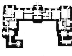 Château de Maisons-Laffitte - Floor plan of the basement.  1,007×783 pixels