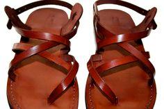 Brown Triple Leather Sandals for Men & Women - Handmade Sandals, Leather Flats, Leather Flip Flops, Unisex Sandals, Brown Leather Sandals by SANDALI on Etsy https://www.etsy.com/listing/69520545/brown-triple-leather-sandals-for-men