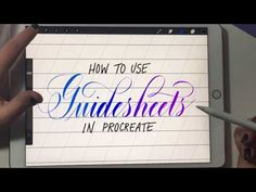 Loveleigh Loops: 3 Ways to use Guidesheets in Procreate Lettering Guide, Lettering Tutorial, Brush Lettering, Lettering Design, Brush Script, Inkscape Tutorials, Ipad Hacks, Iphones For Sale, Ipad Art