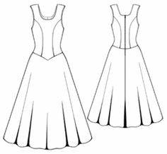 example - #5335 Satin dress with low-cut neckline