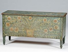 spectacular blanket chest with painted decoration