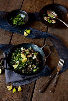 Quinoa Grünkohl Detox Salat Teller