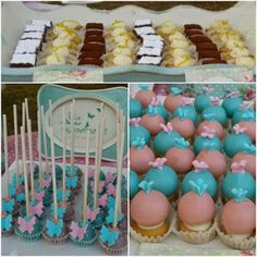Bars, Petits Fours and Cake Pops for a christening! Cupcakes, Cake Pops, Christening, Events, Desserts, Food, Petit Fours, Cake Pop, Happenings
