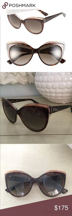 8a642cb9213a DIOR  Glisten 1  56mm Cat Eye Sunglasses A transparent browline accentuates  the alluring cat