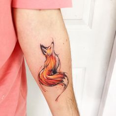 FoxAB #tattoo #tatuaje #fox #zorro #adrianbascur #color #fullcolor #orange #ab
