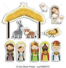 Resultado de imagen para christmas belen clipart