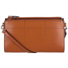 Lodis Audrey Fairen Leather Crossbody Clutch ($114) ❤ liked on Polyvore featuring bags, handbags, clutches, toffee, brown crossbody purse, leather crossbody, brown leather crossbody, brown crossbody and brown leather handbags