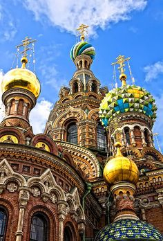 Church of the Savior on Blood, St. Petersburg, Russia. The Church of the Savior…