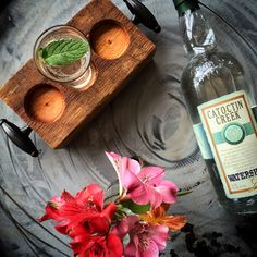 """For summer cocktails, it doesn't get much more refreshing than the """"Leeloo"""" from Catoctin Creek. CC Watershed Gin (2oz), Lemon mint Element shrub (1/2oz), simple syrup (3/4oz). Serve on the rocks, top with seltzer, stir to combine and garnish with fresh mint."""