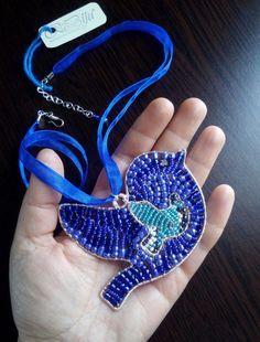 Blue BIRD pendant. Unique Blue Bird, Ornament, Pendant, Unique, Handmade, Jewelry, Hand Made, Jewellery Making, Decoration