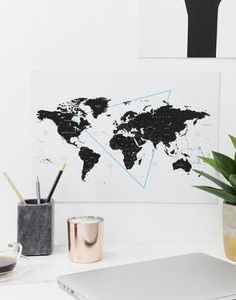 Buy Moxon world map wall art at ASOS. Get the latest trends with ASOS now.