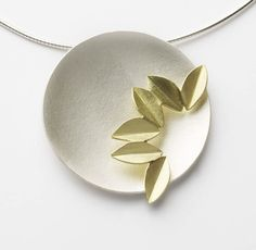 Silver and 18k gold Fold Necklace | Contemporary Necklaces / Pendants by contemporary jewellery designer Sue Lane
