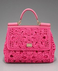 Dolce and Gabbana Crochet Handbag